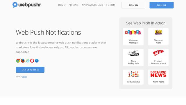 Web-Push-Notifications-|-Webpushr API koppeling
