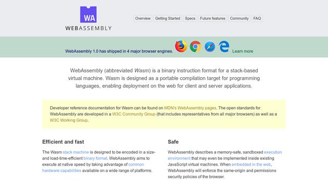 WebAssembly API koppeling