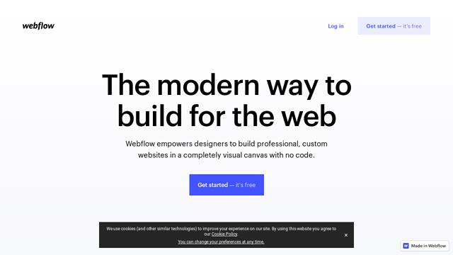 Webflow API koppeling
