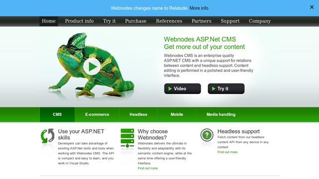 Webnodes API koppeling