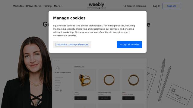 Weebly API koppeling