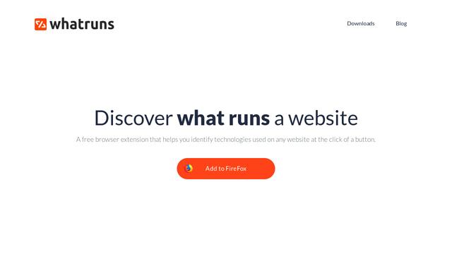 WhatRuns API koppeling
