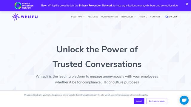 Whispli API koppeling