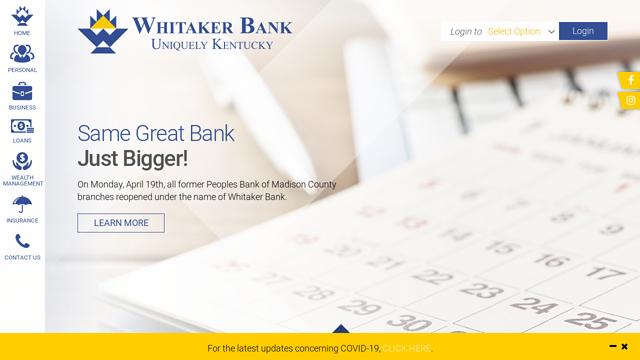 Whitaker-Bank API koppeling