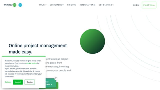 WorkflowMax API koppeling
