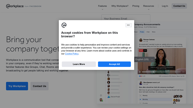 Workplace-by-Facebook API koppeling