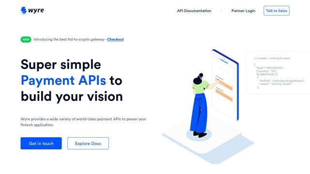 Wyre API koppeling