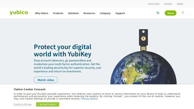 Yubico API koppeling