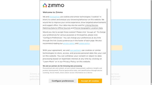 Zimmo API koppeling