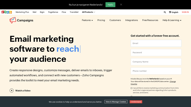 Zoho-Campaigns API koppeling