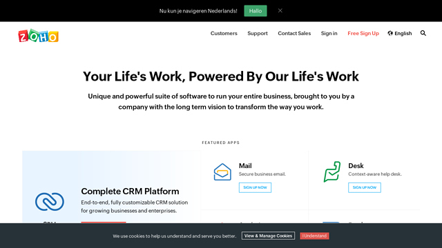 Zoho-Desk API koppeling