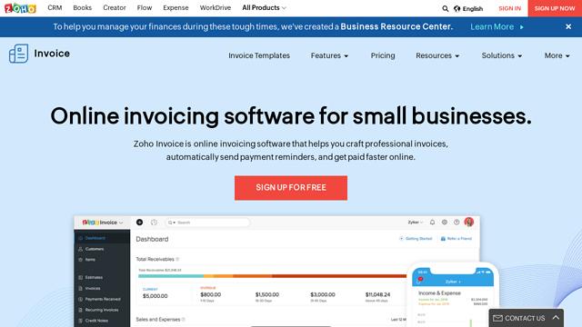 Zoho-Invoice API koppeling