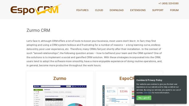 Zurmo API koppeling